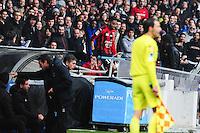 Jordan AMAVI EN TRIBUNE - 21.03.2015 - Lyon / Nice - 30eme journee de Ligue 1 -<br />Photo : Jean Paul Thomas / Icon Sport