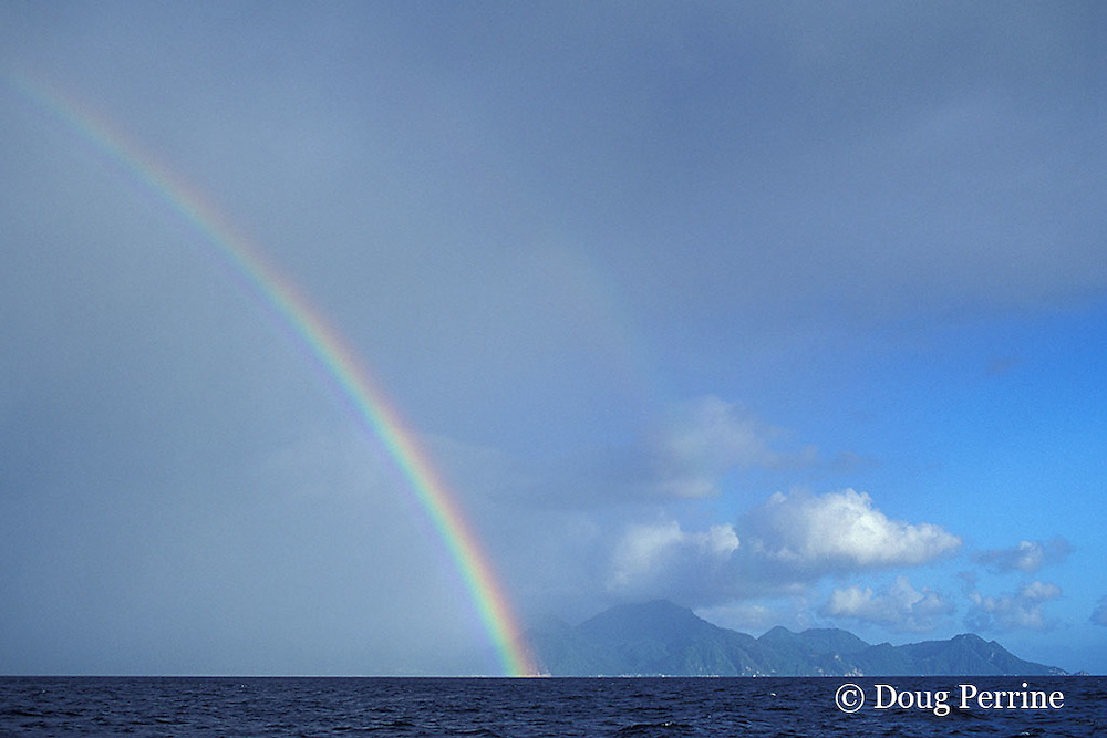 rainbow over Commonwealth of Dominica, West Indies ( Eastern Caribbean )
