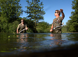 UK ENGLAND WILTSHIRE 26JUN08 - River keepers John and Rob Hounslow cut weeds in the riverbed of the Kennet near Stichcoombe in rural Wiltshire, western England...jre/Photo by Jiri Rezac / WWF UK..© Jiri Rezac 2008..Contact: +44 (0) 7050 110 417.Mobile:  +44 (0) 7801 337 683.Office:  +44 (0) 20 8968 9635..Email:   jiri@jirirezac.com.Web:     www.jirirezac.com..© All images Jiri Rezac 2008 - All rights reserved.