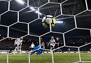 SOLNA, SWEDEN - MARCH 13: Tarik Elyounoussi of AIK scores the opening goal to 1-0 during the Swedish Cup Quarterfinal between AIK and Orebro SK at Friends arena on March 13, 2018 in Solna, Sweden. Photo by Nils Petter Nilsson/Ombrello<br /> ***BETALBILD***