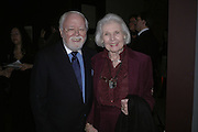 Sir Richard and Lady Attenborough, Hogarth private view and dinner. Tate Britain. London. 5 February 2007.  -DO NOT ARCHIVE-© Copyright Photograph by Dafydd Jones. 248 Clapham Rd. London SW9 0PZ. Tel 0207 820 0771. www.dafjones.com.