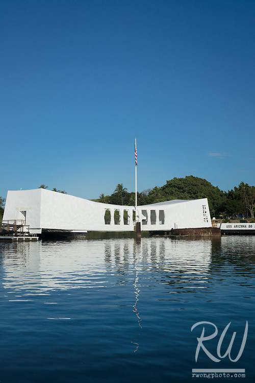 USS Arizona Memorial at Pearl Harbor, O'ahu, Hawaii