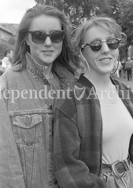 Michael Jackson fans at the Concert in Lansdowne Road, Dublin, 25/07/1992 (Part of the Independent Newspapers Ireland/NLI Collection).