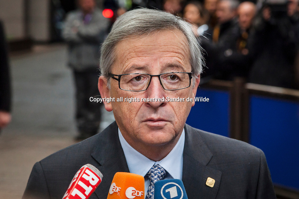 Luxembourg's Prime Minister Jean-Claude Juncker speaks with the media as he arrives for an EU summit at the EU Council building in Brussels on Thursday, Nov. 22, 2012. Leaders from around Europe are arriving in Brussels Thursday for what promises to be a turbulent summit on the budget for the 27-country European Union. And for once, Britain will be at the heart of the debate.