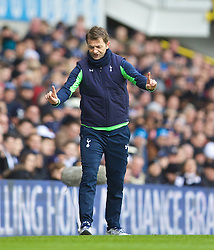 LONDON, ENGLAND - Sunday, February 9, 2014: Tottenham Hotspur's manager Tim Sherwood during the Premiership match against Everton at White Hart Lane. (Pic by David Rawcliffe/Propaganda)
