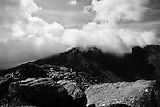 The ridge up to the top of Tryfan, Snowdonia, Wales.