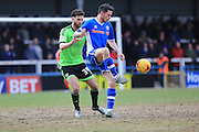 Ian Henderson sets up Peter Vincenti goal during the Sky Bet League 1 match between Rochdale and Sheffield Utd at Spotland, Rochdale, England on 27 February 2016. Photo by Daniel Youngs.