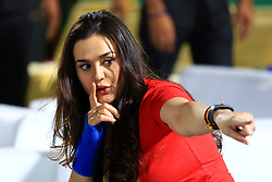 May 8, 2018 - Jaipur, Rajasthan, India - Kings XI Punjab co-owner & Bollywood actress Preity Zinta during the IPL T20 match against Rajasthan Royals at Sawai Mansingh Stadium in Jaipur,Rajasthan,India on 8th May,2018.(Photo By Vishal Bhatnagar/NurPhoto) (Credit Image: © Vishal Bhatnagar/NurPhoto via ZUMA Press)