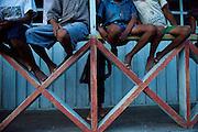 Indigenous Children Watch a Soccer Game - Communidad Siete de Augosto - Amazonas - Colombia