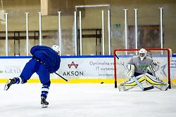 Ziga Pavlin at first practice of Slovenian National Ice Hockey team before IIHF Ice Hockey World Championship Division I Group A in Budapest, on April 17, 2018 in Ledena dvorana, Bled, Slovenia. Slovenia. Photo by Matic Klansek Velej / Sportida