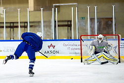 Ziga Pavlin at first practice of Slovenian National Ice Hockey team before IIHF Ice Hockey World Championship Division I Group A in Budapest, on April 17, 2018 in Ledena dvorana, Bled, Slovenia. Slovenia. Photo by Matic Klansek Velej / Sportida