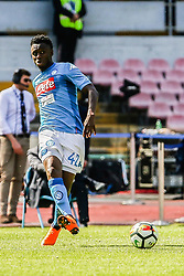 April 8, 2018 - Naples, Italy - Amadou Diawara (SSC Napoli)..during the Italian Serie A football SSC Napoli v Chievo Verona at S. Paolo Stadium..in Naples on April 08, 2018  (Credit Image: © Paolo Manzo/NurPhoto via ZUMA Press)