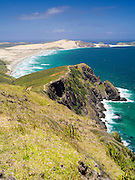 View of the northern dunes near Cape Reinga, Northland, New Zealand.