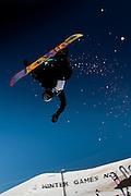 Competitor name, World Cup Snowboard Halfpipe Finals, Winter Games, Cadrona Ski Field, Sunday August 28, 2011...Photo: Mark Tantrum/photosport.co.nz
