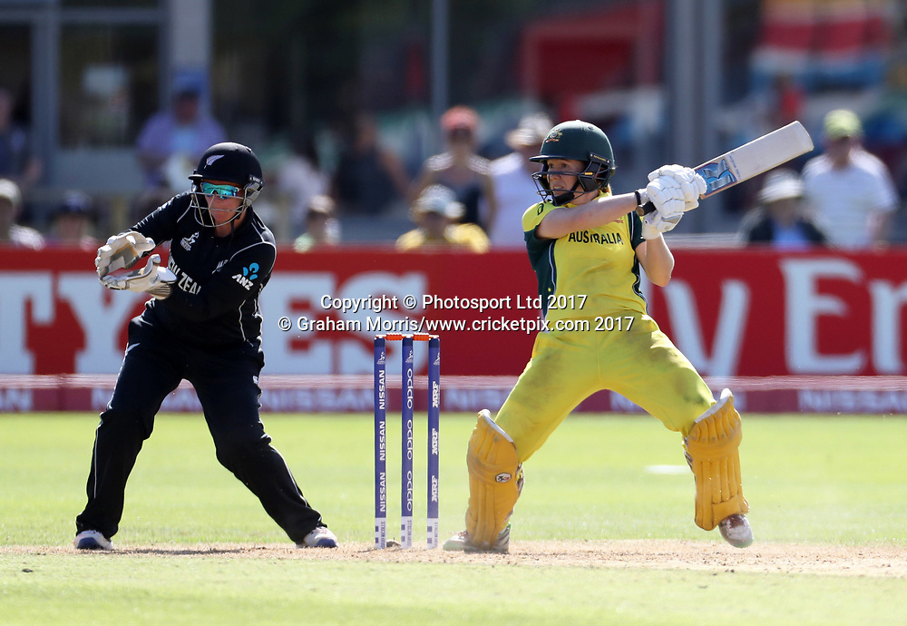 Alex Blackwell bats during the Women's World Cup fifty over match between Australia and New Zealand at the County Ground, Bristol. Photo: Graham Morris /www.photosport.nz