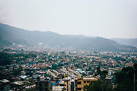 A view over the Kathmandu Valley from Shivapuri Heights.