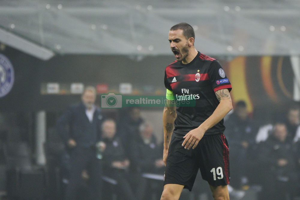 November 23, 2017 - Milan, Italy - Leonardo Bonucci of AC Milan during uefa Europa League AC Milan vs FK Austria Wien at San Siro Stadium (Credit Image: © Gaetano Piazzolla/Pacific Press via ZUMA Wire)