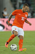 Wesley Sneijder of Netherlands during the International Friendly match at Stadio San Nicola, Bari<br /> Picture by Stefano Gnech/Focus Images Ltd +39 333 1641678<br /> 04/09/2014