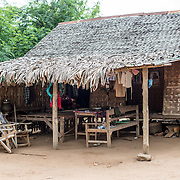 A house in Minnanthu Village in Bagan, Myanmar. Set amidst the archeological ruins of the Plain of Bagan, the tiny Minnanthu Village retains the traditional way of life.