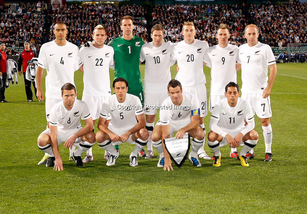 All Whites starting line up. ASB International Series, All Whites v Honduras, North Harbour Stadium Albany, Saturday 9th October 2010. Photo: Shane Wenzlick