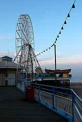 UK ENGLAND LANCASHIRE BLACKPOOL 1DEC04 - View of Blackpool's Central Pier, famous for amusement archades and gambling parlours. ....jre/Photo by Jiri Rezac....© Jiri Rezac 2004....Contact: +44 (0) 7050 110 417..Mobile:  +44 (0) 7801 337 683..Office:  +44 (0) 20 8968 9635....Email:   jiri@jirirezac.com..Web:    www.jirirezac.com....© All images Jiri Rezac 2004 - All rights reserved.
