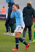 Manchester City Women's midfielder Melissa Lawley (7) during the FA Women's Super League match between Manchester City Women and Brighton and Hove Albion Women at the Sport City Academy Stadium, Manchester, United Kingdom on 27 January 2019.