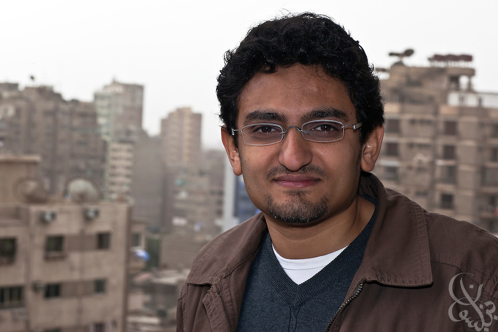 "Egyptian revolutionary activist Wael Ghonim poses for a portrait January 22, 2012 in Cairo, Egypt. Ghonim famously started the initial revolutionary Facebook page calling for widespread demonstrations last year against the rule of then President Hosni Mubarak's regime,  helping lead to the historic 18 day uprising that swept them from power. His new book, ""Revolution 2.0"", is an insiders' account of the revolution and a revealing behind the scenes look at the Egyptian revolutionaries that made it possible."