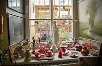 Vilnius, Lithuania- June, 2015: Vintage tea sets mingle with the works of local artists and artisans Šapokliak Salonas, where shoppers can find a little bit of everything. The boutique is located on Stiklių Street, a winding medieval street now known for it's shopping, especially for Lithuanian wares. CREDIT: Chris Carmichael for The New York Times