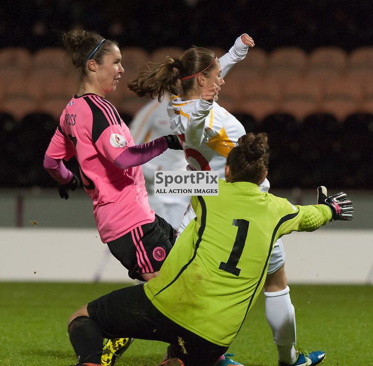 Jane Ross (Scotland &amp; Manchester City) scores<br /> <br /> UEFA Women's European Championship Qualifying - Group 1 <br /> Scotland v FYR Macedonia<br /> St Mirren Park, Paisley<br /> Sunday 29 November 2015<br /> <br /> &copy; Russel Hutcheson | SportPix 2015