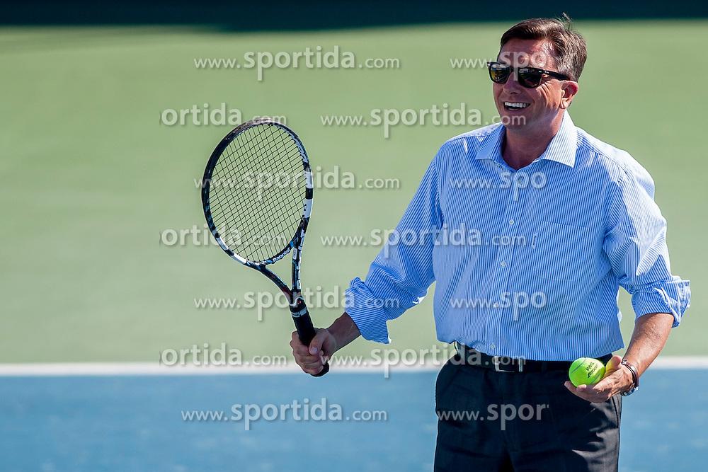 President of Slovenia, Borut Pahor during Day 5 of ATP Challenger Tilia Slovenia Open 2014 on July 11, 2014 in Tennis stadium SRC Marina, Portoroz / Portorose, Slovenia. Photo by Urban Urbanc / Sportida
