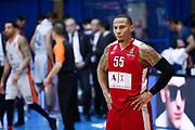 Delusione Jerrells Curtis, EA7 EMPORIO ARMANI OLIMPIA MILANO vs VALENCIA BASKET, EuroLeague 2017/2018, PlalaDesio Desio 22 marzo 2018 FOTO: Bertani/Ciamillo