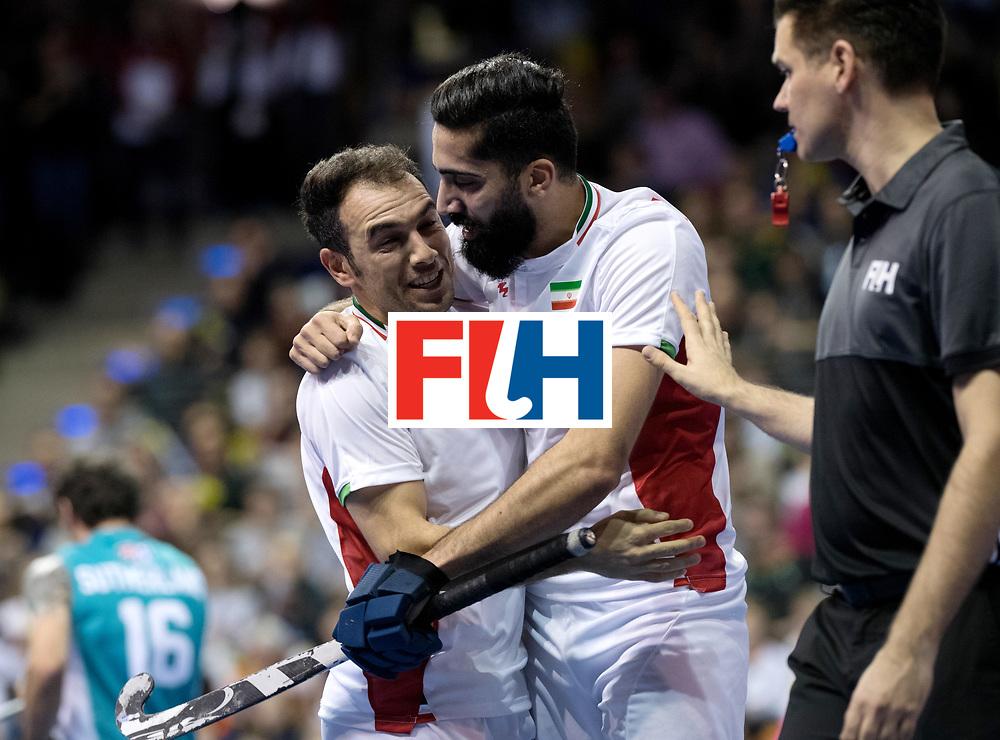 BERLIN - Indoor Hockey World Cup<br /> Bronze: Iran - Australia<br /> foto: NOROUZZADEH Reza.<br /> WORLDSPORTPICS COPYRIGHT FRANK UIJLENBROEK