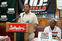 July 6, 2006 - New York, NY - Former Welterweight champion, Ike Quartey during the press conference announcing his upcoming August 5, 2006 fight against Vernon Forrest at the Theater at Madison Square Garden.