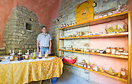 Award-winning local beekeeper and honey producer Dario Veznaver, in the medieval hill town of Oprtalj (Portole), Istria, Croatia
