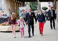 Brussels, 01-09-2015<br /> <br /> King Filip of Belgium brings his children to school<br /> <br /> Photo:Royalportraits Europe/Bernard Ruebsamen