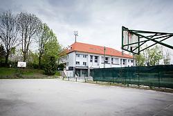 Basketball court at Sportna hisa Ilirija and SUS Eurofitness in sports park Ilirija, on April 19, 2014 in Koseze, Ljubljana, Slovenia. Photo by Vid Ponikvar / Sportida