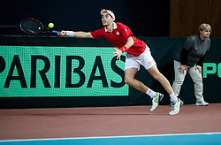 Lucas Catarina of Monaco during Day 3 of the tennis matches between Slovenia and Monaco of 2017 Davis Cup Europe/Africa Zone Group II, on February 5, 2017 in Tennis Arena Tabor, Maribor Slovenia. Photo by Vid Ponikvar / Sportida