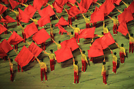Parade performance in Hanoi in celebration of Hanoi's 1000 year anniversary, Vietnam, Southeast Asia