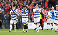 Football - 2016 / 2017 Scottish League Cup - Semi-Final - Greenock Morton vs. Aberdeen<br /> <br /> Jai Quitongo of Morton waves to the fans after the semi final at Hampden Park.<br /> <br /> COLORSPORT/LYNNE CAMERON
