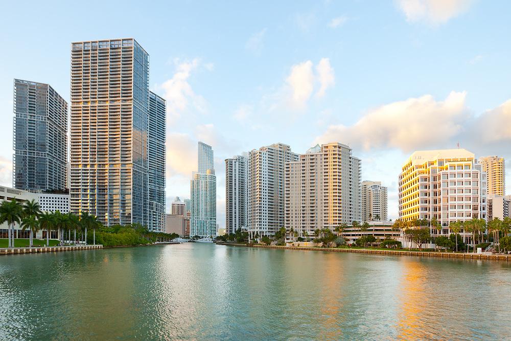 Downtown and Brickell Key, Miami, Florida, USA