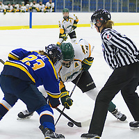 5th year forward Meghan Sherven (18) of the Regina Cougars in action during the Women's Hockey Home Game on October 15 at Co-operators arena. Credit: Arthur Ward/Arthur Images