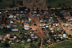 March 24, 2019 - Chimanimani, Zimbabwe - Part of the few remaining houses after Cyclone Idai. At least 259 people were killed in Zimbabwe by Cyclone Idai, and some 217 are missing, according to the U.N. migration agency. Hundreds of people had been injured and authorities had confirmed that 16,000 households had been displaced, the International Organization said in a statement. (Credit Image: © Tafadzwa Ufumleli/ZUMA Wire)