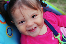 Portrait of girl smiling,