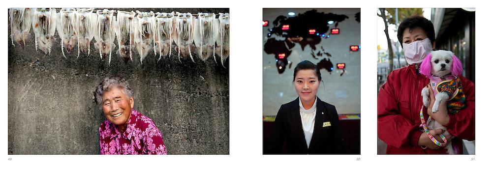 "Daegu/South Korea, Republic Korea, KOR, 07.09.2010: First selection for book layout ""a beautiful strange dream""."