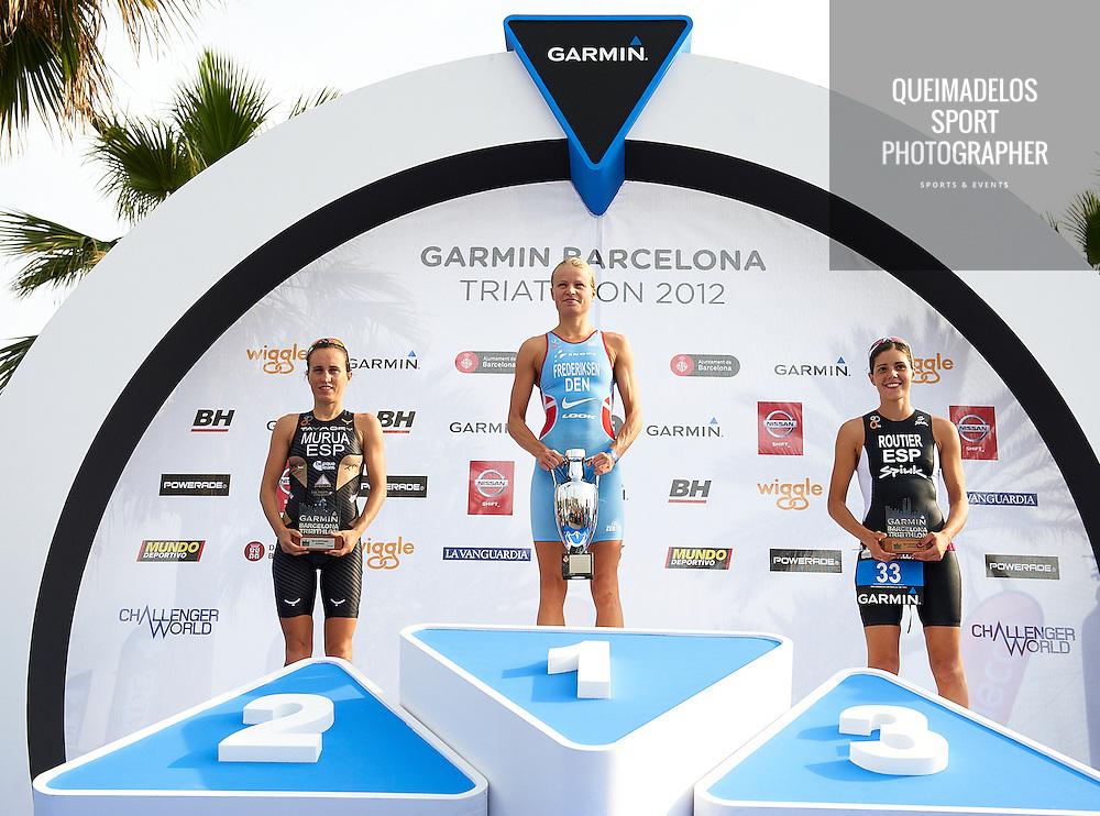BARCELONA, SPAIN - OCTOBER 07 Garmin Barcelona Triathlon 2012 at Playa de la Mar Bella (Photo by Manuel Queimadelos )