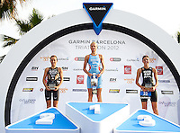 BARCELONA, SPAIN - OCTOBER 07 Garmin Barcelona Triathlon 2012 at Playa de la Mar Bella (Photo by Manuel Queimadelos )