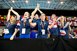 Team GB going nuts GBR at 2015 IPC Swimming World Championships -