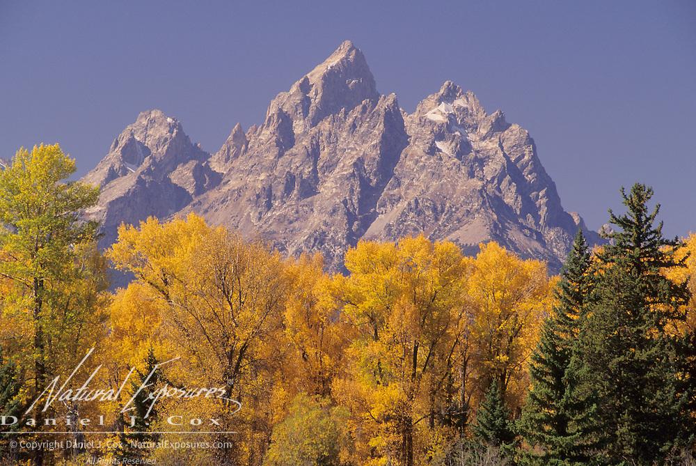 Mount Teewinot, Grand Teton and Mount Owen in Grand Teton National Park, Wyoming.