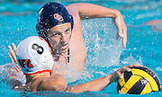 Mission Vejo, California -- Saddleback college waterpolo players compete the Saddlleback College