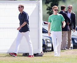 Prince William and Prince Harry Playing in the Audi Polo Challenge Charity Polo match at Coworth Polo Club, Ascot, United Kingdom<br /> Saturday, 3rd August 2013<br /> Picture by Rupert Hartley / i-Images